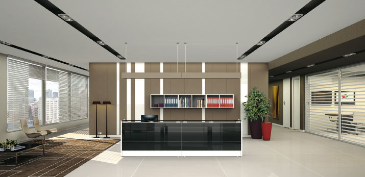 Agencement am nagement casablanca maroc co bureau for Store plafond interieur