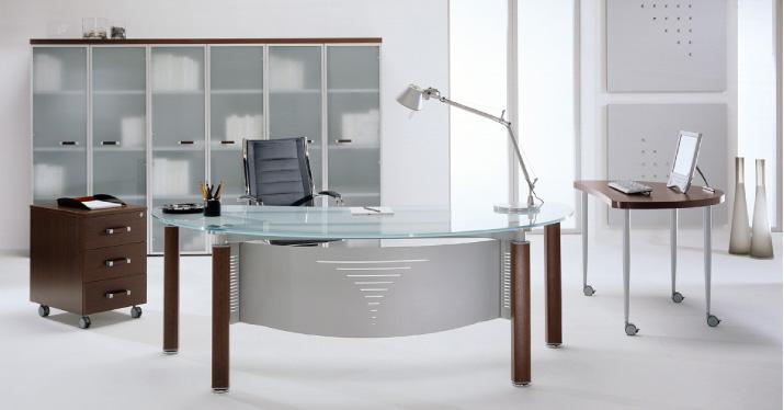 Bureaux direction design en bois massif ou en verre co bureau